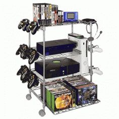Gamekeeper Wire 4 Tier Tower for Gaming Gear - Silver for the MR and his man cave deep in the basement :D