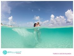 Trash the Dress shoot in the turquoise waters of the Turks and Caicos