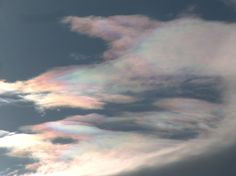 iridescent clouds - Clouds Online