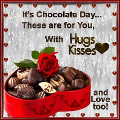 This ecard can be sent to anyone. Free online Especially For You ecards on Chocolate Day Happy Chocolate Day Wishes, Thinking Of You Quotes, Chocolate Quotes, Propose Day, Rose Quotes, 28th October, Night Love, Happy Friendship Day, Happy Wishes