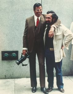 "Jerry Lewis and Martin Scorsese on the set of ""The King of Comedy"" 1983."