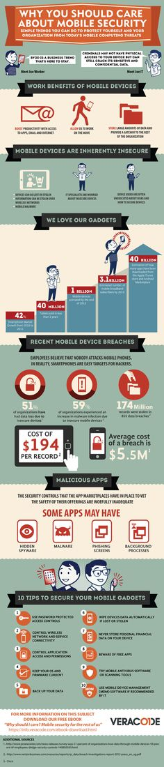 Top 10 Tips to Secure Mobile Gadgets #Infographic #mobile #tech