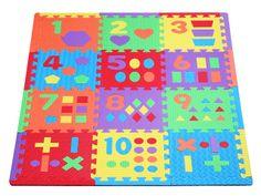 Soft Floor Kids UK > Products > Sensory Tactile Number Mat (NUMBERMAT12)