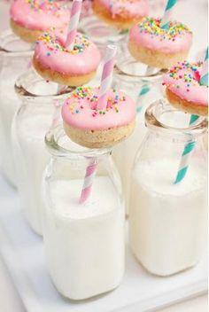 Donuts & milk.