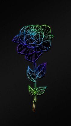 Rose Flower Art iPhone Wallpaper - iPhone Wallpapers