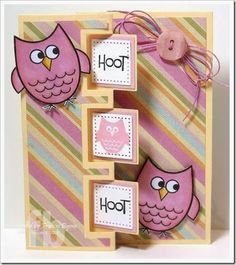 It's Owl Good! created by Frances Byrne using Owls2Love stamp set from The Stamps of Life and Sizzix Triple Square Flip-its Card Framelits