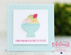 Stampin Up, Stampin' Up!, Louise Sharp, handmade card, handmade, Stamping, cards. Cool Treats and a lovely colour combo!