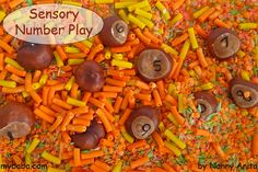 A sensory and maths activity for preschoolers. Sensory Activities, Sensory Play, Educational Activities, Preschool Activities, Number Activities, Maths, Fun Things, Counting, Arts And Crafts