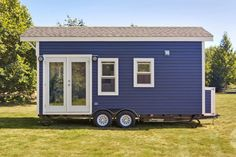 This is the Amalfi tiny house on wheels for sale by Tiny Living Homes located in Delta, BC, Canada. It's built on a 20′ x 8'6″ trailerwith full RV hook ups. This tiny house…