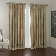 Vintage Light Brown Embroidery Energy Saving Curtain  #curtains #decor #homedecor #homeinterior #brown