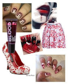 A Bloody Mess by amaranth13 on Polyvore featuring polyvore, fashion, style, Funtasma, Boohoo and clothing