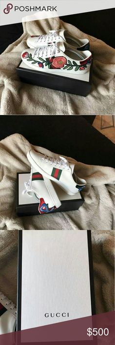 gucci 8s. gucci ace sneakers foral brand new 100% authentic and original boxing from all 8s