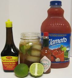Clamato Michelada-1/2 Lemon Juiced 3-4 Dashes of Worcestershire Sauce 2 Dashes Tabasco 1 Dash Maggi Sauce 1 Cup Clamato Juice (or alternate tomato juice) 12 Oz. Beer of your choice 1 Tbsp. Salt for the rim of your glass