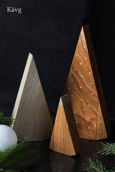 *PRESALE* Get 15% off till November 26! No conditions apply. Set of three stylish wooden christmas trees