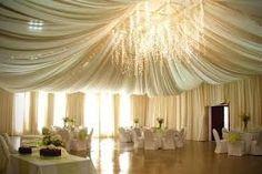 wedding ballroom chandillier draping -