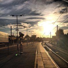 West Hampstead Thameslink station (via Burstein) Railroad Tracks, Falling In Love, London, London England, Train Tracks