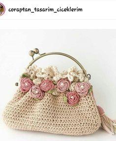 Crochet bag flower coin purses 36 Ideas for 2019 Crochet Change Purse, Crochet Coin Purse, Bag Crochet, Crochet Handbags, Crochet Purses, Crochet Gifts, Cute Crochet, Crochet Motif, Crochet Yarn