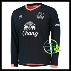 Fotballdrakter Everton Langermet Bortedraktsett 2016-2017 Everton, Premier League, Long Sleeve, Sleeves, Mens Tops, T Shirt, Fashion, Supreme T Shirt, Moda