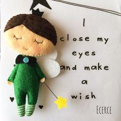 I close my eyes and make a wish..⭐️ #keçe #felt #feltro #fieltro #ecerce #tasarim #babyroom #babyroomdecor #elyapimi #handmade #hediye #baby #babyshower #bebekodasi #hosgeldinbebek #dogumhediyesi #bebekhediyesi #craft #feltcraft #fairy #feltfairy #peri #melek #angel