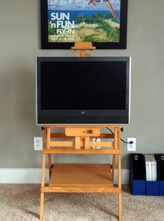 DIY Studio Easel TV Stand