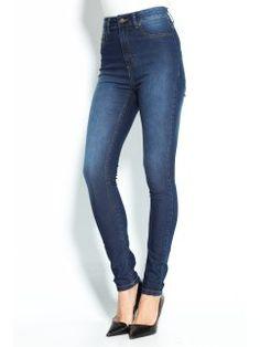 Pantalón vaquero de talle alto corte skinny ajustado denim elástico Jeans Store, Skinny Jeans, Pants, Denim, Fashion, Vestidos, High Waisted Mom Jeans, Texans, Riders Jacket