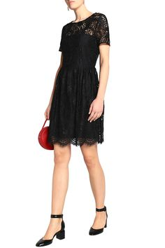 Claudie Pierlot Woman Repeat Pleated Corded Lace Mini Dress Black Size 40 Claudie Pierlot JNRj8