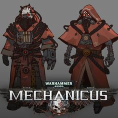 ArtStation - Techpriest, Lucas Terryn in 2020 (With images) Warhammer 40k Rpg, Warhammer Models, Character Concept, Concept Art, Character Design, Imperial Design, Warhammer Imperial Guard, Arte Robot, Monster Drawing