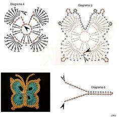 farfalle schemi ad uncinetto