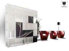 Parete Poliquadra, parete plastica, policarbonato, quinta in plastica, parete policarbonato, rivestimento in palstica e policarbonato