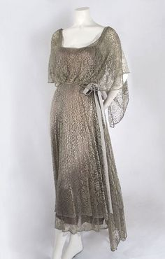 Silk lace dress, c.1923, from the Vintage Textile archives. by polly