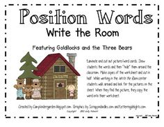 Position Words Write the Room Center Featuring Goldilocks