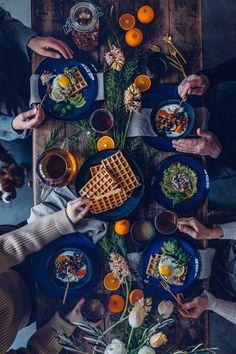 Gluten-free Buckwheat Waffles with Fried Eggs - A little Breakfast Gathering - Our Food Stories, recette gauffre sarrasin sans gluten Egg Ingredients, Guacamole Recipe, Buckwheat Waffles, Organic Eggs, Mashed Avocado, Food Platters, Waffle Recipes, Gluten Free Chocolate, Cooking