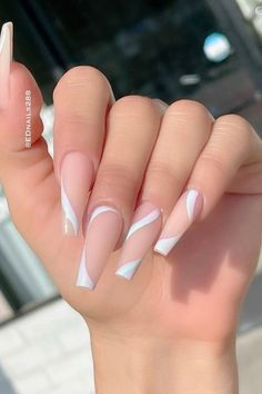 Acrylic Nails Coffin Pink, Coffin Shape Nails, Nude Nails, Stiletto Nails, Coffin Acrylic Nails Long, Ballerina Acrylic Nails, Gel Nails, Acrylic Nail Designs Coffin, Coffin Nails Designs Summer