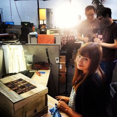 Veronica Belmont shooting a special Paranorman unboxing for Tekzilla!