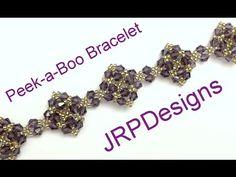 Peek-a-boo bracelet--Beginner Tutorial - YouTube