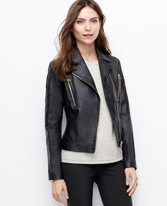 Ann Taylor Tall Quilted Faux Leather Jacket on shopstyle.com