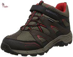 Merrell ml-b Hilltop Mid Quick-Clos, Chaussures de Randonnée Hautes Garçon, Marron (Brown), 38 EU - Chaussures merrell (*Partner-Link)