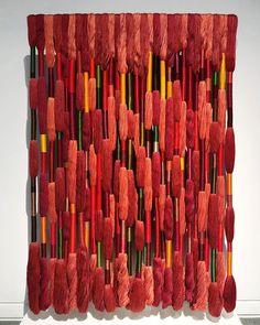 Textile Artists, New Artists, Sheila Hicks, Creative Textiles, Make Do And Mend, Fibre And Fabric, Principles Of Design, Soft Sculpture, Sculpture Ideas