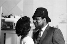 """""""We have two kids, my wife and myself."""" - Thelonious Monk with wife Nellie, NYC, 1963 by David Gahr"""