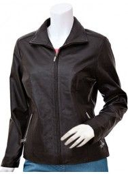 Women's Exclusive Brown Leather Jacket