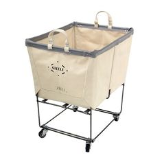 transport clean clothes from the laundry room to the master suite in this convenient rolling cart