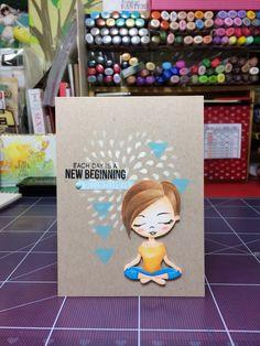 simon says stamp yoga girl card!