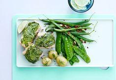 Sund aftensmad på max 30 minutter   Iform.dk Pesto, Avocado Toast, Asparagus, Green Beans, Vegetables, Breakfast, Morning Coffee, Studs, Vegetable Recipes