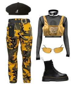 """Untitled #357"" by youraveragestyle ❤ liked on Polyvore featuring Dr. Martens, PAM, Chanel, Oliver Peoples and kangol"