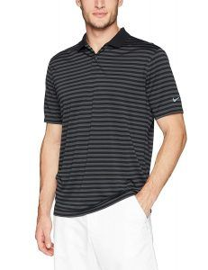 Golf Clothing *** NIKE Mens Dry Victory Stripe Polo Golf Shirt Black/Anthracite/Cool Grey Medium ** You could discover more details by checking out the image web link. (This is an affiliate link). Mens Golf Outfit, Golf Attire, Golf Fashion, Ladies Golf, Golf Shirts, Golf Clubs, Victorious, Nike Men, Polo