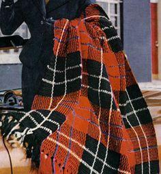 Ramsay Tartan Afghan crochet pattern from Tartans, Clark's O.N.T. J. Coats, Book No. 501, in 1951.