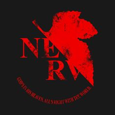 Awesome 'Grunged+NERV+Logo' design on TeePublic!