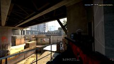 """Gameplay"" Little AWP wallbang on Overpass. Nasty shot."
