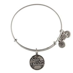 Today is an Opportunity Charm Bracelet | Alex and Ani Alex and Ani Today is an Opportunity bangle. 20% of sales will go to the Pancreatic Cancer Action Network. #FlauntRI #charitybydesign #cbd