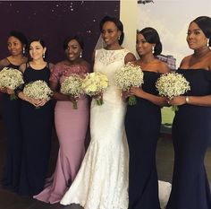 Here's a wish for dreams to come true, from the moment you say i do! ⠀  Good morning lovelies! It's the start of a new week. Let's make it count. Pairing Dusty Rose and Navy, Beautiful bride Rita chose Something Peridot for her bridesmaid dresses. #motivationalmonday #bridesmaids #destinationwedding #rizo17 bridesmaids makeup @edithwilliams bridesmaids hair @rachel_arike